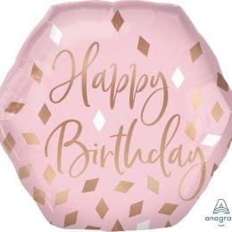 Μπαλόνι Birthday Blush Πολύγωνο 58cm