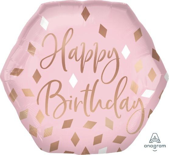 Μπαλόνι Birthday Blush Πολύγωνο