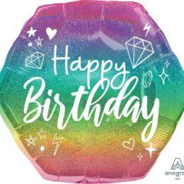 Μπαλόνι Birthday Sparkle Πολύγωνο 58cm