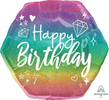 Μπαλόνι Birthday Sparkle Πολύγωνο