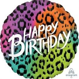 Μπαλόνι Happy Birthday Animal Print 72cm