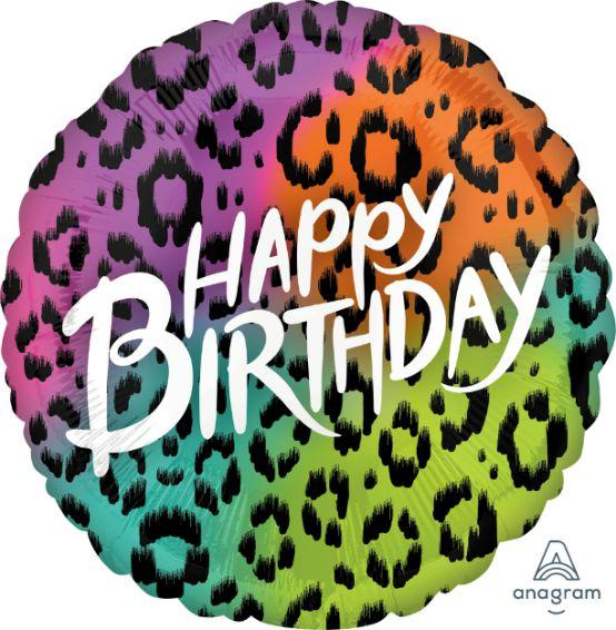 Μπαλόνι Happy Birthday Animal Print