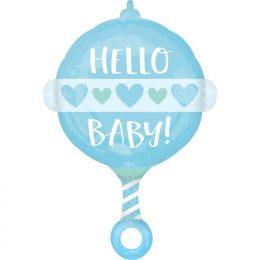 Μπαλόνι Κουδουνίστρα Baby Boy 60cm