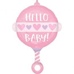 Μπαλόνι Κουδουνίστρα Baby Girl 60cm