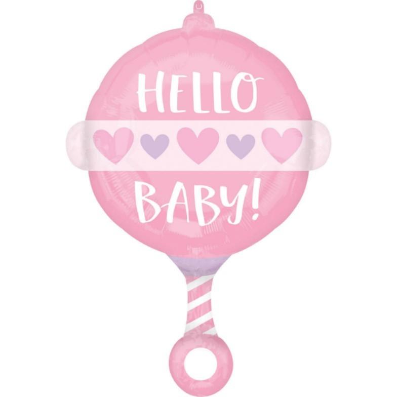 Μπαλόνι Κουδουνίστρα Baby Girl
