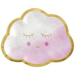 Πιάτα Συννεφάκι Oh Baby Girl (8 τεμ)