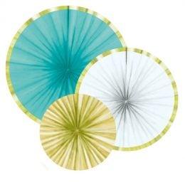 Χάρτινες Βεντάλιες Pineapple Vibes (3 τεμ)