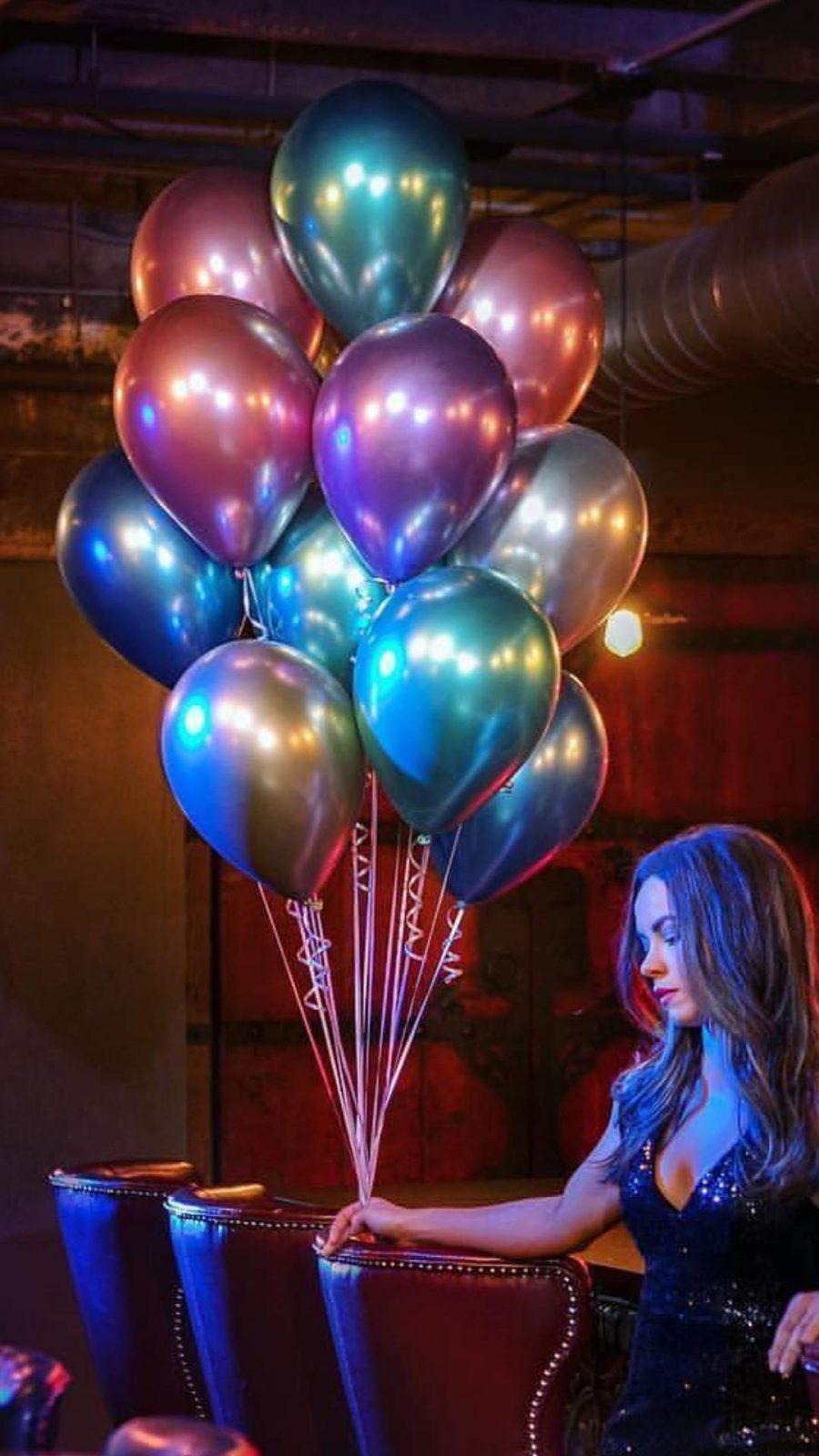 Chrome Rosegold λάτεξ μπαλόνι