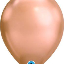 11″ Chrome Rosegold λάτεξ μπαλόνι