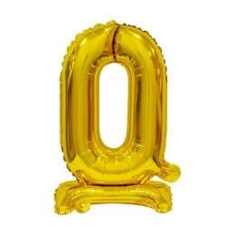 Μπαλόνι Νούμερο 0 Χρυσό με βάση 74cm