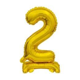 Μπαλόνι Νούμερο 2 Χρυσό με βάση 74cm