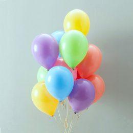 """Μπαλόνια μονόχρωμα 9"""""""
