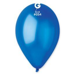 9″ Μπλε Μεταλλικό λάτεξ μπαλόνι