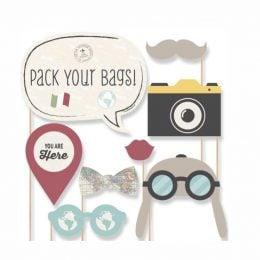 Photobooth Kit Ταξίδια (8 τεμ)