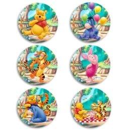 Κονκάρδες Winnie the Pooh (6 τεμ)