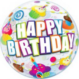 Μπαλόνι Bubble Birthday Cupcakes