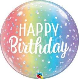Μπαλόνι Bubble Birthday Ombre