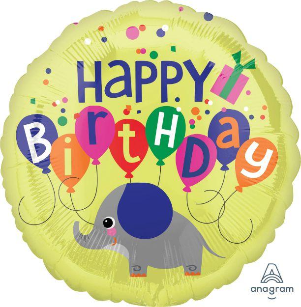 Μπαλόνι Ελεφαντάκι Happy Birthday
