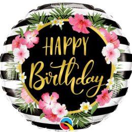 Μπαλόνι Happy Birthday Ιβίσκος
