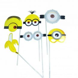 Photobooth Props Minions (6 τεμ)