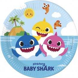 Πιάτα Baby Shark (8 τεμ)