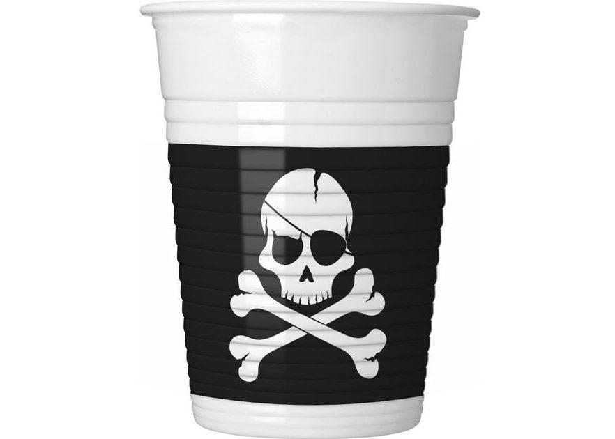 Ποτήρια Πειράτες Μαύρη Νεκροκεφαλή (8 τεμ)