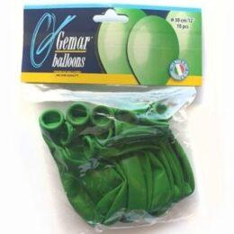 11″ Πράσινα Περλέ Λάτεξ Μπαλόνια (10 τεμ)