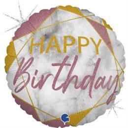 Μπαλόνι Happy Birthday Μάρμαρο