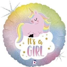 Μπαλόνι Μονόκερος It's a Girl