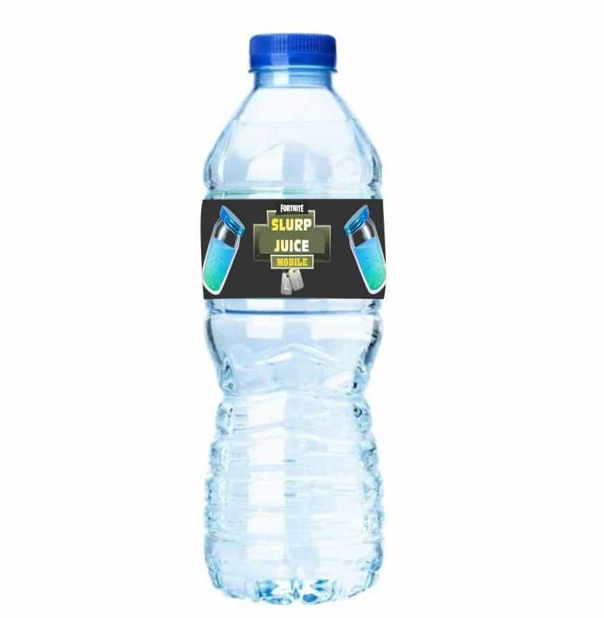 Ετικέτες για μπουκάλια νερού Fortnite