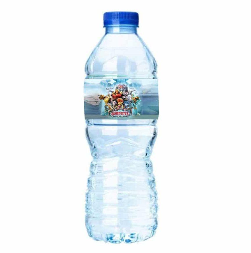 Ετικέτες για μπουκάλια νερού Gormiti (8 τεμ)