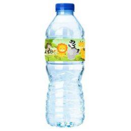 Ετικέτες για μπουκάλια νερού Ζωάκια της Ζούγκλας (8 τεμ)