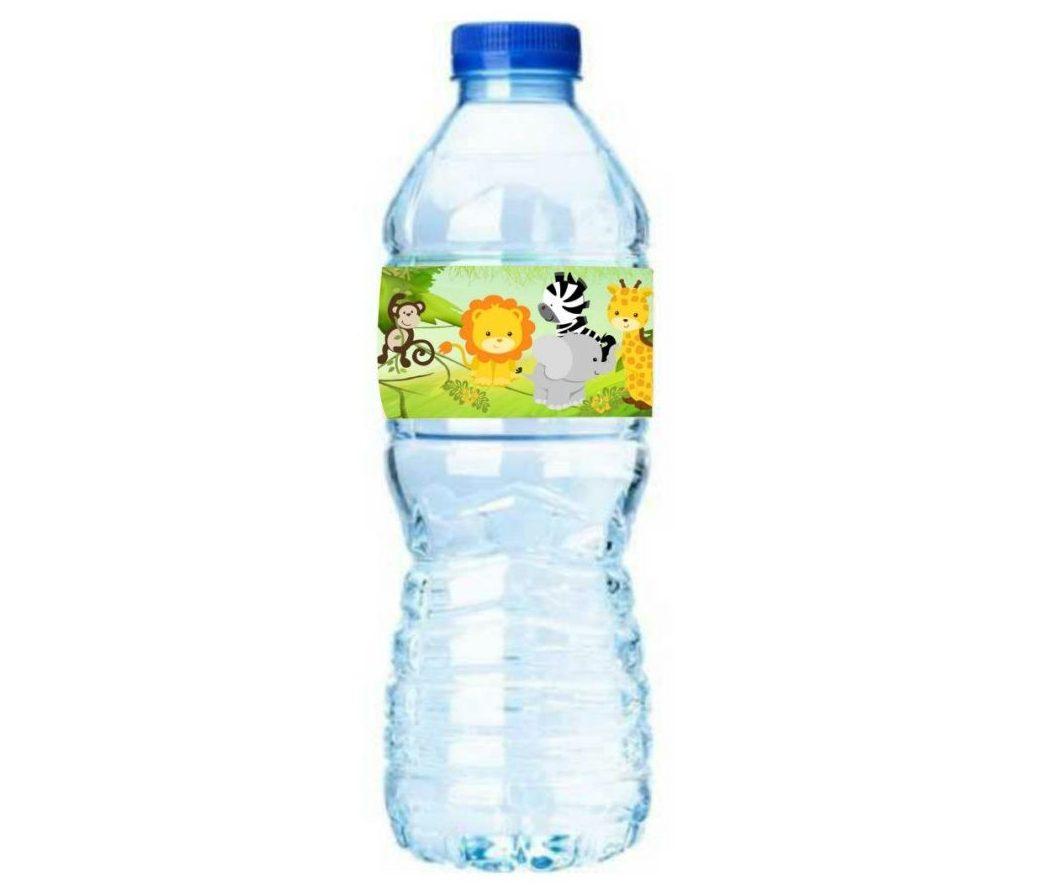 ετικέτες για μπουκάλια νερού ζωάκια της ζούγκλας