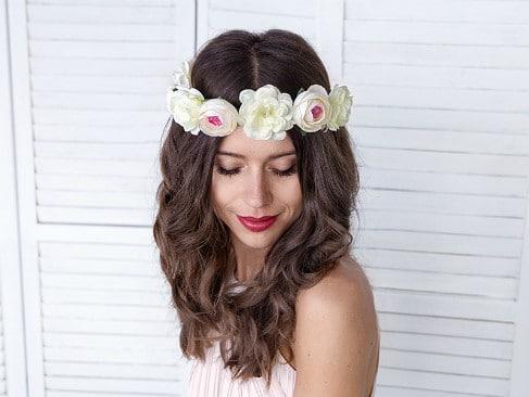 Στεφάνι μαλλιών από Λουλούδια