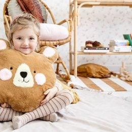 Λούτρινο μαξιλάρι Αρκουδάκι