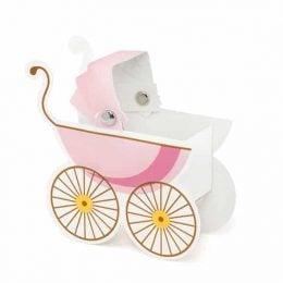 Κουτάκι ροζ Καροτσάκι (10 τεμ)
