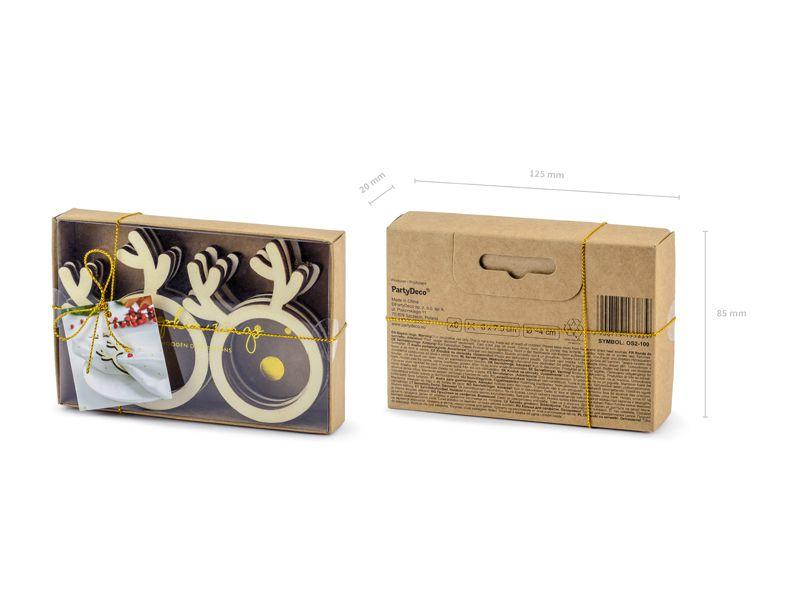 Δαχτυλίδια χαρτοπετσέτας Ταρανδάκι (6 τεμ)
