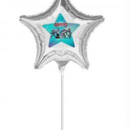Μπαλόνι Ασημί Αστεράκι με αυτοκόλλητο Gormiti 10''