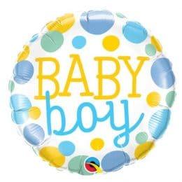 Μπαλόνι Baby Boy Πουά