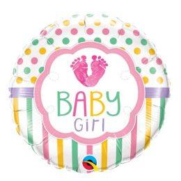 Μπαλόνι Baby Girl Πατουσάκια