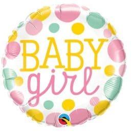 Μπαλόνι Baby Girl Πουά