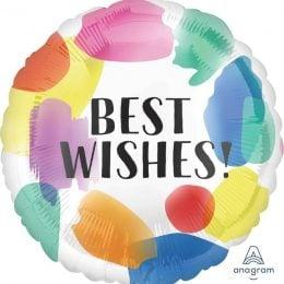 Μπαλόνι Best Wishes Watercolor
