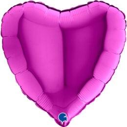 """Μπαλόνι Καρδιά Μοβ 18"""""""