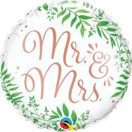 Μπαλόνι Mr & Mrs Elegant Greenery