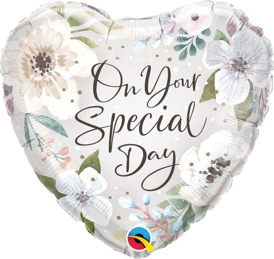 Μπαλόνι Special Day Λευκό Φλοράλ