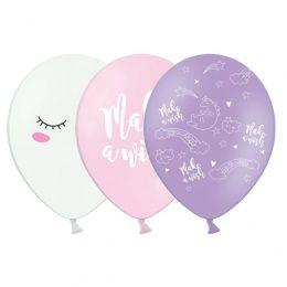 12'' Μπαλόνι τυπωμένο Μονόκερος Make a Wish (3 σχέδια)