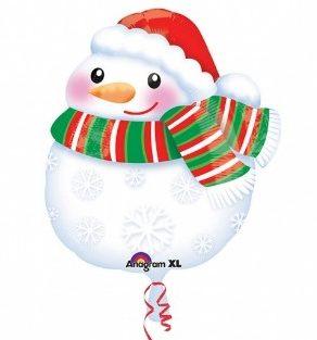 Μπαλόνι Χιονάνθρωπος με Κασκόλ