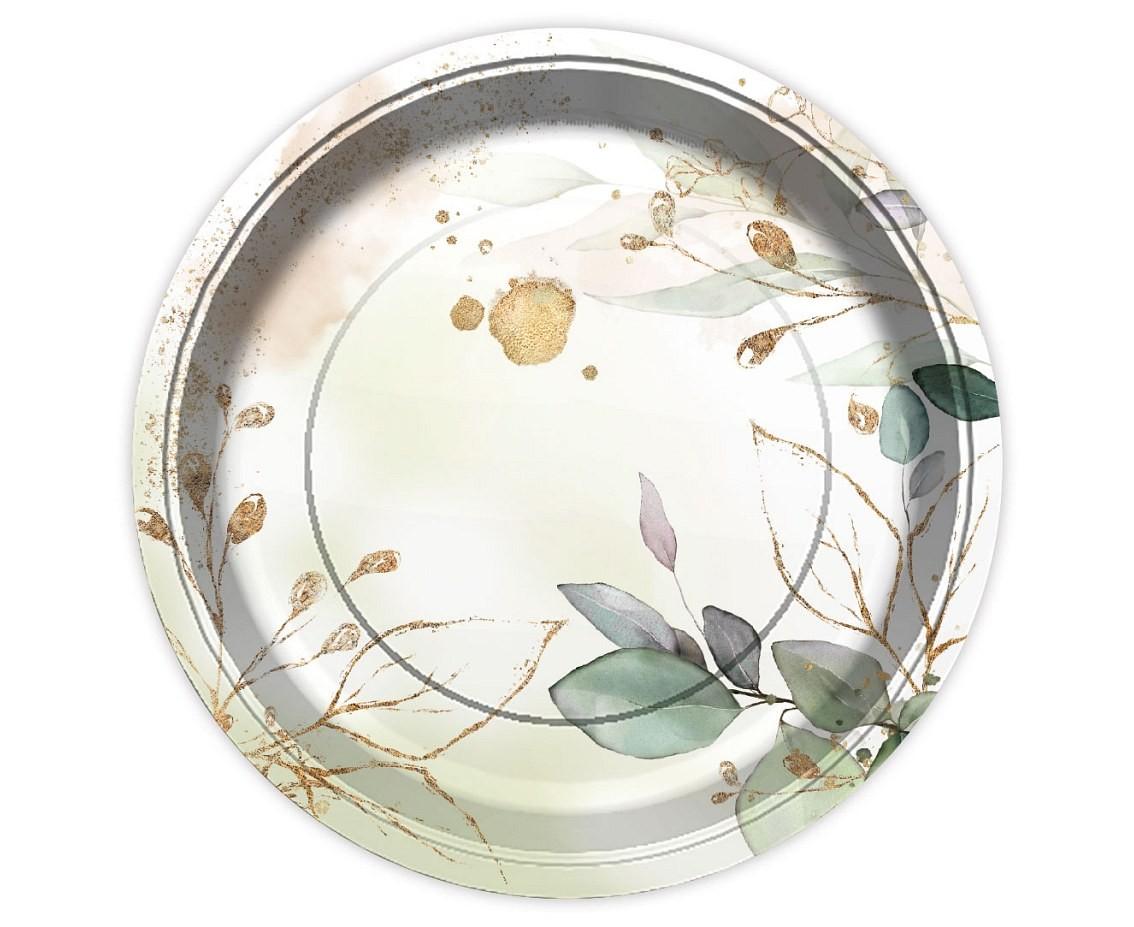 Πιάτα Φύλλα & Glitter (6 τεμ)