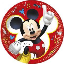 Πιάτα μεγάλα Mickey Mouse (8 τεμ)