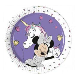 Πιάτα γλυκού Minnie Unicorn (8 τεμ)